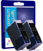 Premium Quality Twin Pack Compatible Black Ink Cartridges for BCI-3EBK ( BCI3e Black )