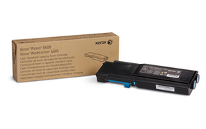 Xerox High Capacity Cyan Toner Cartridge, 6K Page Yield