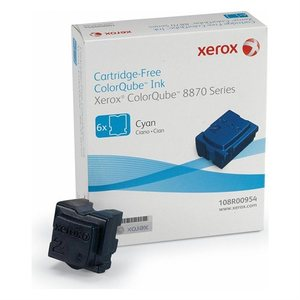 Xerox ColorQube 6 Solid Cyan Ink Wax Sticks, 17.3K Yield