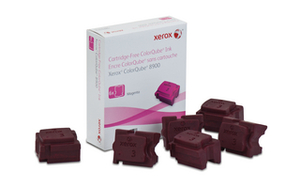 Xerox 6 ColorQube Solid Magenta Ink Wax Sticks, 16.9K Yield