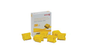 Xerox 6 ColorQube Solid Yellow Ink Wax Sticks, 16.9K Yield