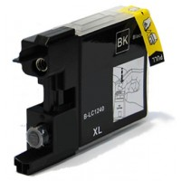 Compatible Premium Quality LC1240BK Black Ink Cartridge, 30ml