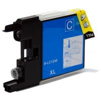 Compatible Premium Quality LC1240C Cyan Ink Cartridge, 19ml