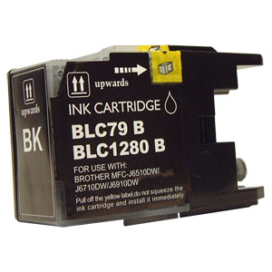 Compatible Premium Quality LC1280XL High Capacity Black Ink Cartridge, 30ml