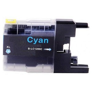 Compatible Premium Quality LC1280XL High Capacity Cyan Ink Cartridge, 19ml