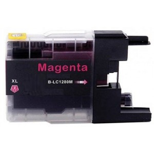 Compatible Premium Quality LC1280XL High Capacity Magenta Ink Cartridge, 19ml