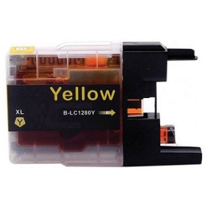 Compatible Premium Quality LC1280XL High Capacity Yellow Ink Cartridge, 19ml