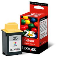 Lexmark Extra High Capacity No 25 Colour Ink Cartridge - 15M0125