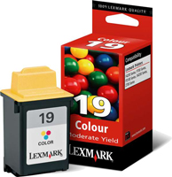 Lexmark No 19 Low Capacity Colour Ink Cartridge - 15M2619E