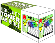 High Capacity Yellow Laser Toner Cartridge Compatible with Canon 707Y