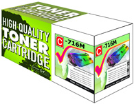 Magenta Laser Toner Cartridge Compatible with Canon 716M