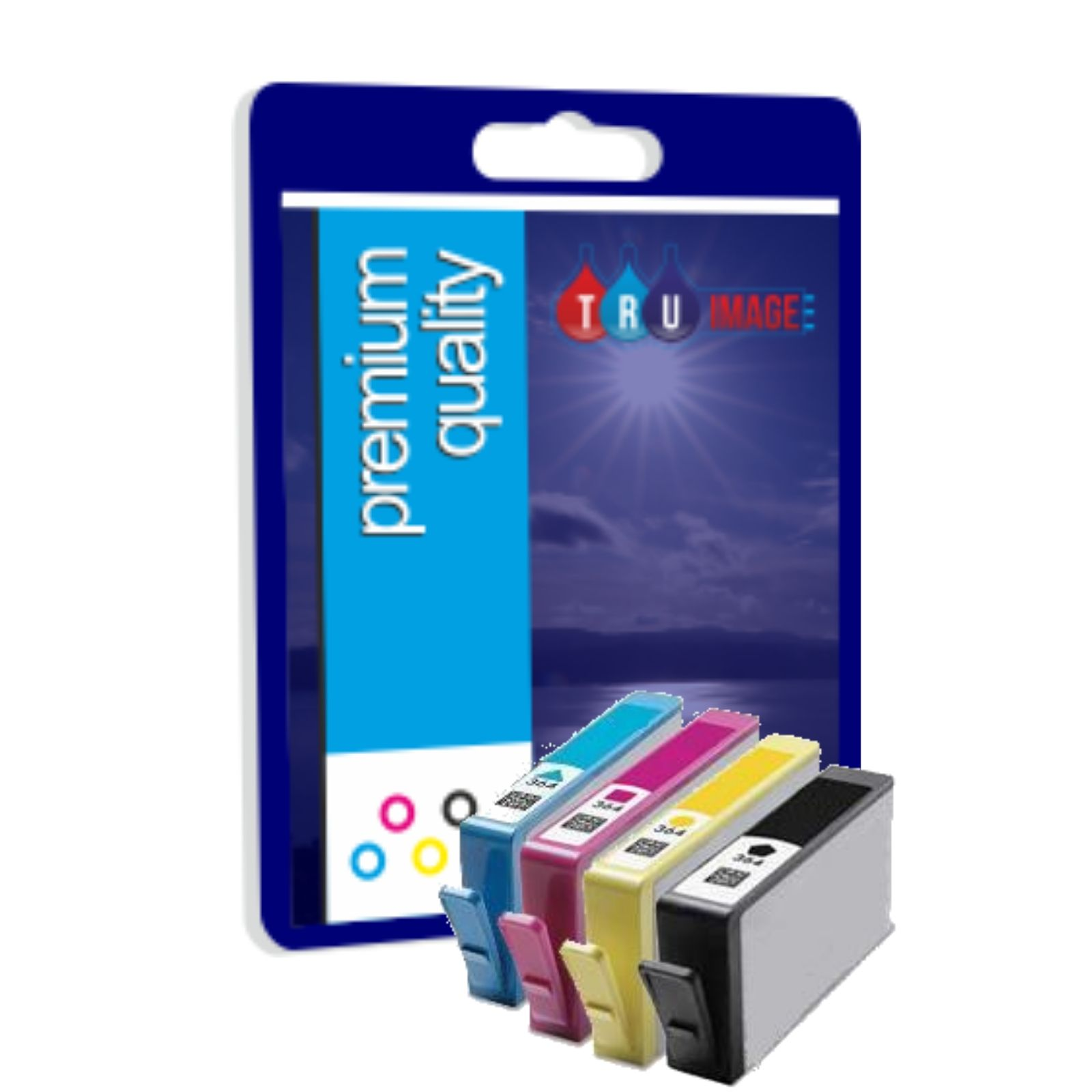 Premium Quality Ink Cartridges for HP 364XL Quad Pack