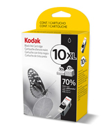 Kodak No 10XL Pigment High Capacity Black Ink Cartridge - 394-9922