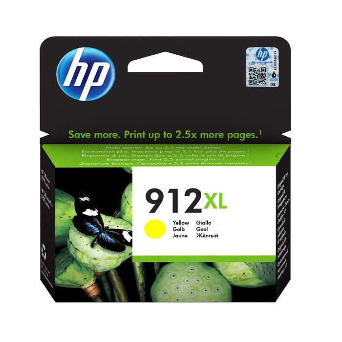 HP 912XL High Capacity Yellow Ink Cartridge - 3YL83AE