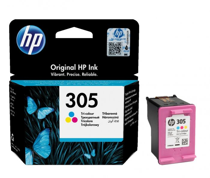HP 305 Tri Colour Ink Cartridge 3YM60AE