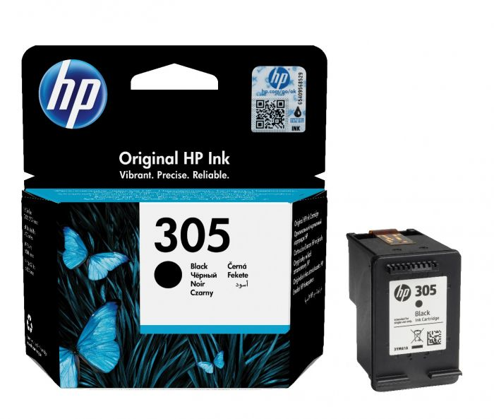 HP 305 Black Ink Cartridge 3YM61AE