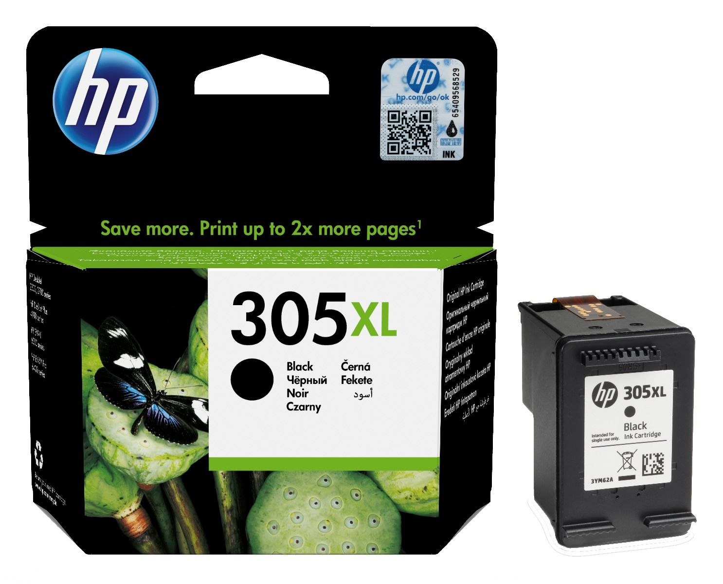 HP 305XL Black High Capacity Ink Cartridge 3YM62AE