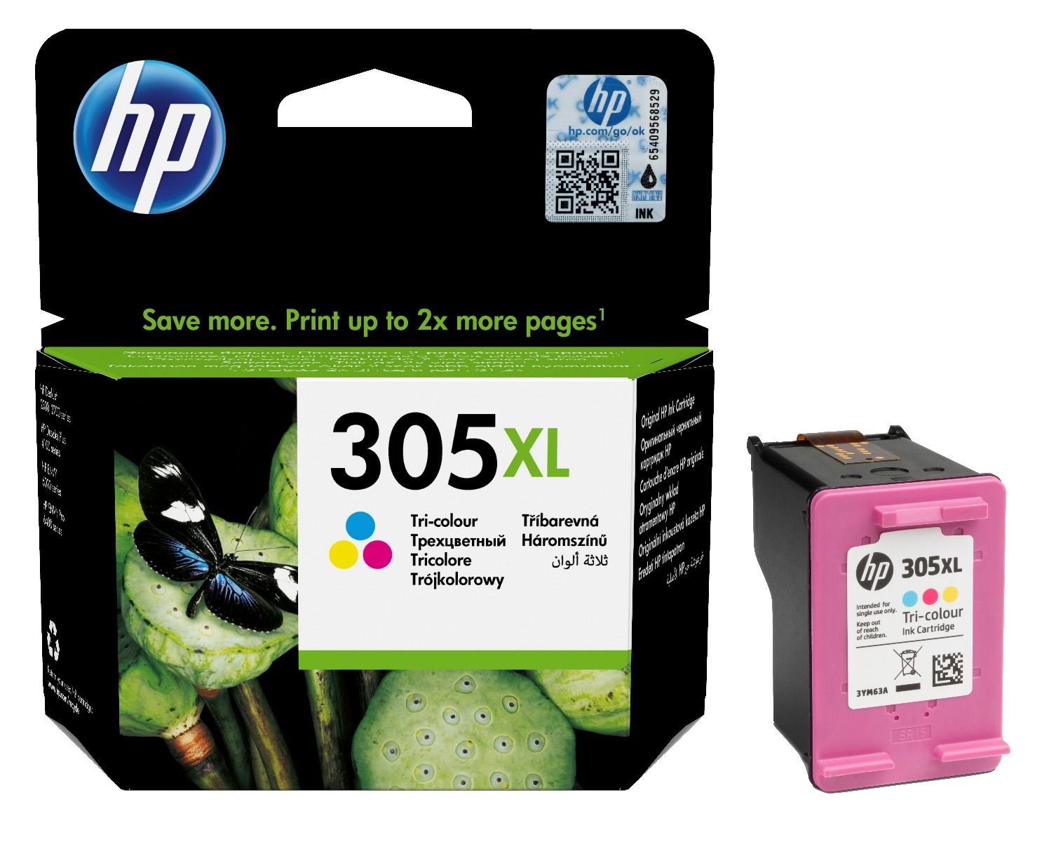 HP 305XL Tri Colour High Capacit Ink Cartridge 3YM63AE