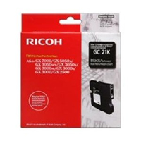 Ricoh GC 21K Standard Capacity Gel Print Black Ink Cartridge, 1.5K Page Yield