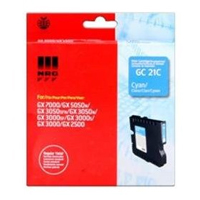 Ricoh GC 21C Standard Capacity Gel Print Cyan Ink Cartridge, 1K Page Yield
