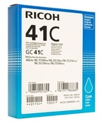 Ricoh High Capacity GC 41C Gel Print Cyan Ink Cartridge, 2.2K Page Yield