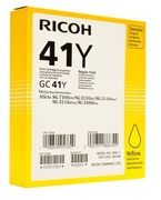 Ricoh High Capacity GC 41Y Gel Print Yellow Ink Cartridge, 2.2K Page Yield