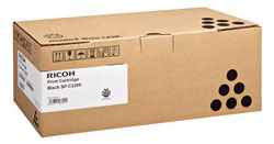 Ricoh SP C22e Black Laser Toner Cartridge, 2K Page Yield