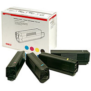 Oki Rainbow Pack Black, Cyan, Magenta, Yellow Toner Cartridges