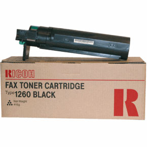 Ricoh Type 1260 Black Fax Toner Cartridge, 5K Page Yield