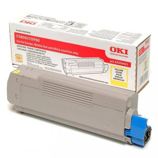 Oki Yellow Toner Cartridge, 5K Yield