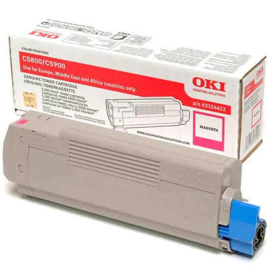 Oki Magenta Toner Cartridge, 5K Yield