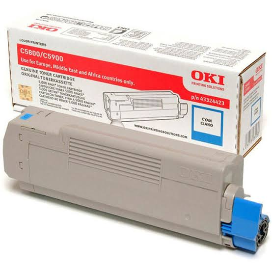 Oki Cyan Toner Cartridge, 5K Yield