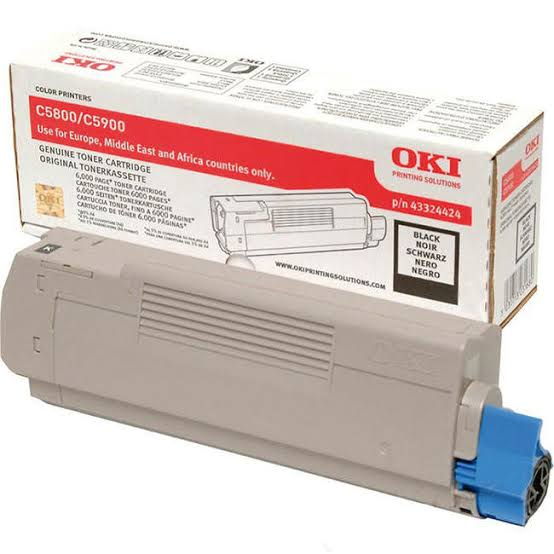Oki Black Toner Cartridge, 6K Yield