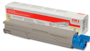 Oki Yellow Toner Cartridge, 1.5K Yield