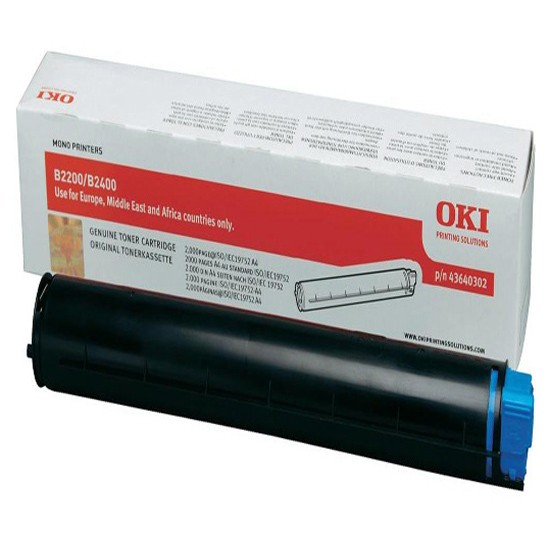 Oki Laser Toner Cartridge, 2K Yield