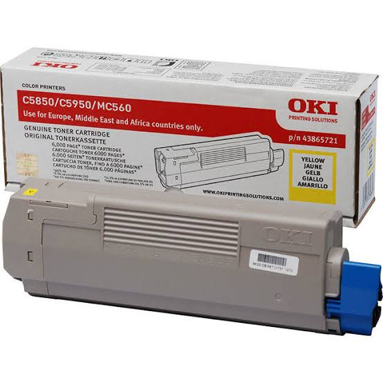 Oki Yellow Toner Cartridge, 6K Yield