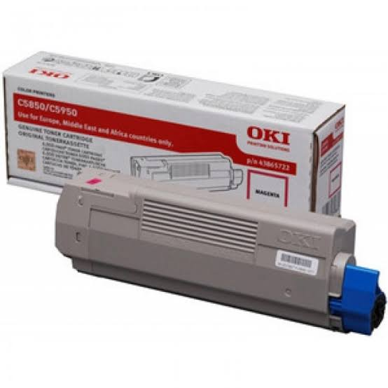 Oki Magenta Toner Cartridge, 6K Yield