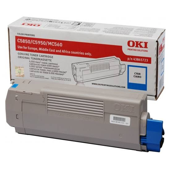 Oki Cyan Toner Cartridge, 6K Yield