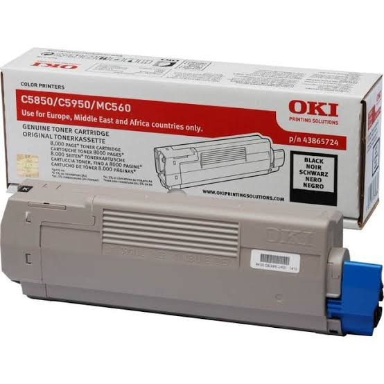 Oki Black Toner Cartridge, 8K Yield