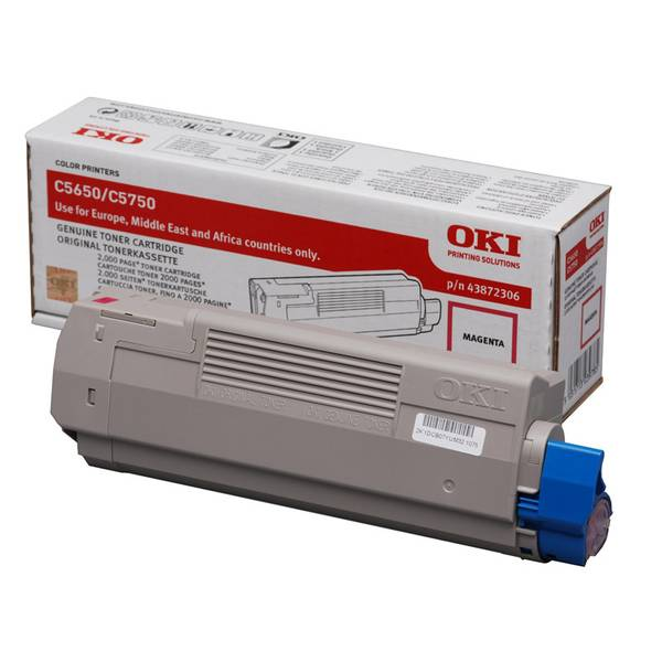 Oki Magenta Toner Cartridge, 2K Yield