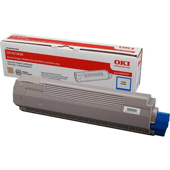 Oki Cyan Laser Toner Cartridge, 8K Yield