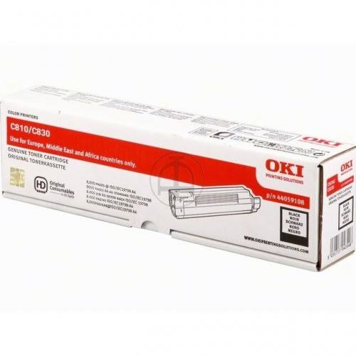 Oki Black Laser Toner Cartridge, 8K Yield