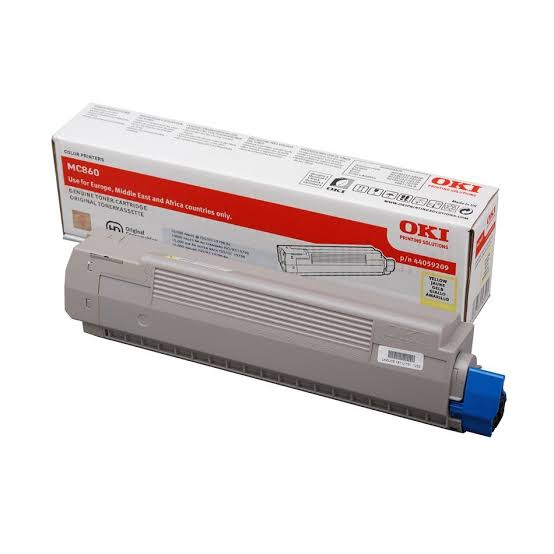 Oki Yellow Toner Cartridge, 10K Yield