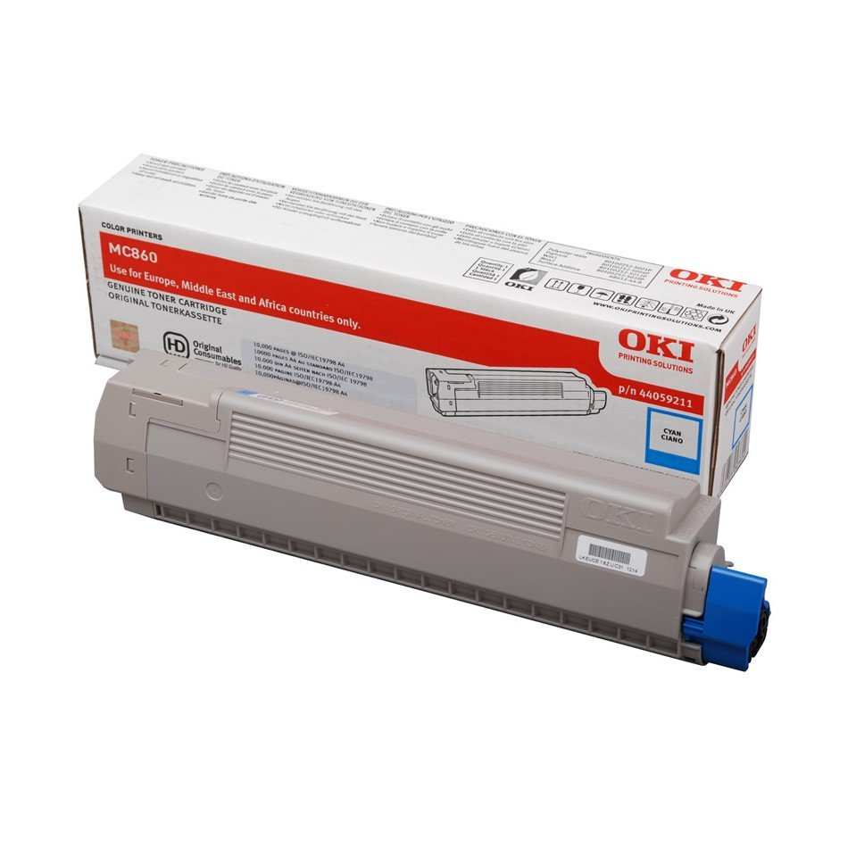 Oki Cyan Toner Cartridge, 10K Yield