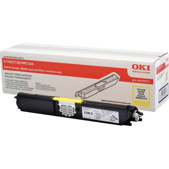 Oki Yellow Laser Toner Cartridge, 2.5K Yield