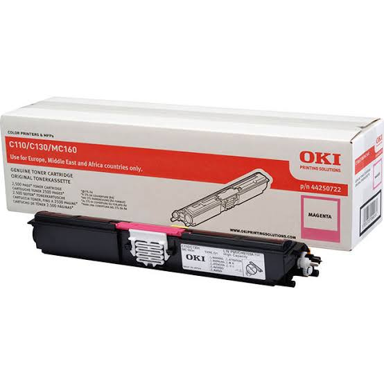 Oki Magenta Laser Toner Cartridge, 2.5K Yield