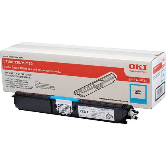 Oki Cyan Laser Toner Cartridge, 2.5K Yield