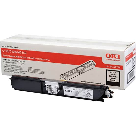 Oki Black Laser Toner Cartridge, 2.5K Yield