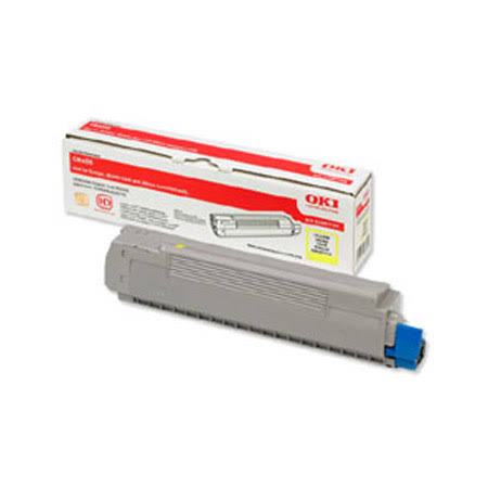 Oki Yellow Laser Toner Cartridge, 6K Yield