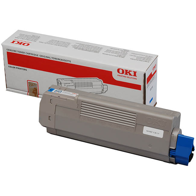 Oki Cyan Laser Toner Cartridge, 6K Yield